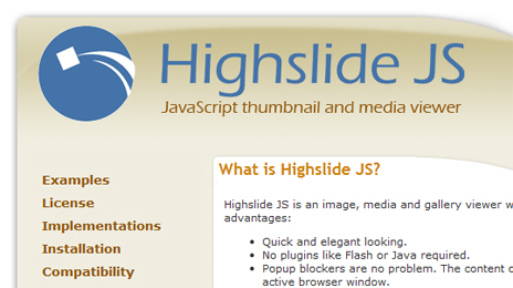 WordPress プラグイン 『Highslide for WordPress *reloaded*』 導入 class=