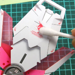 MG ユニコーンガンダム Ver.Ka 製作記09:マーキングシール貼り
