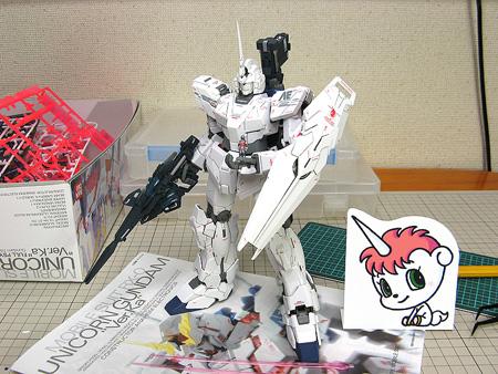 MG ユニコーンガンダム Ver.Ka 製作記10:つや消し~組み立て~完成