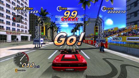 OutRun Online Arcade を レーシングホイールで遊ぶ