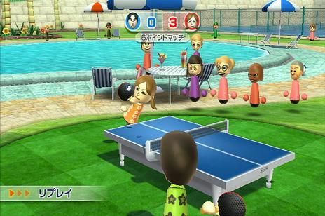 Wiiスポーツ リゾート プレイ その3  「ピンポン」